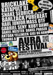 Aura Festival Flyer 2013.06.08., szombat.