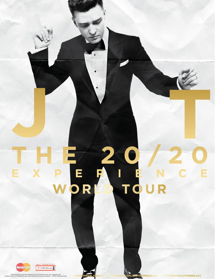 Justin Timberlake 20/20 tourne plakát.