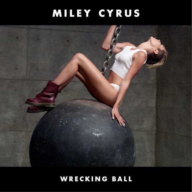 Miley Cyrus - Wrecking Ball CD borító.
