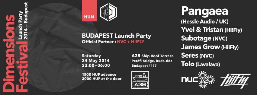 Dimension Festival 2014.05.24. Flyer.