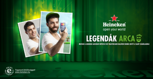 Heineken legendak arca flyer.