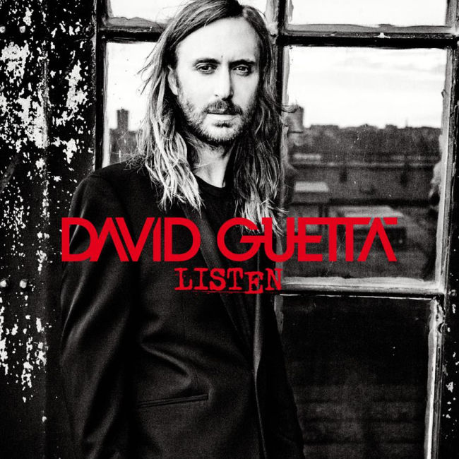 David Guetta - Listen album borító - CD Cover 2014.
