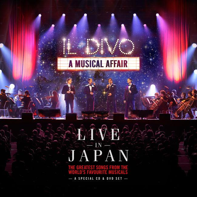Il Divo - The Musical Affair - Live In Japan cover / borító 2014.