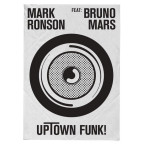 Mark Ronson feat. Bruno Mars - Uptown Funk CD Cover / CD borító2014.