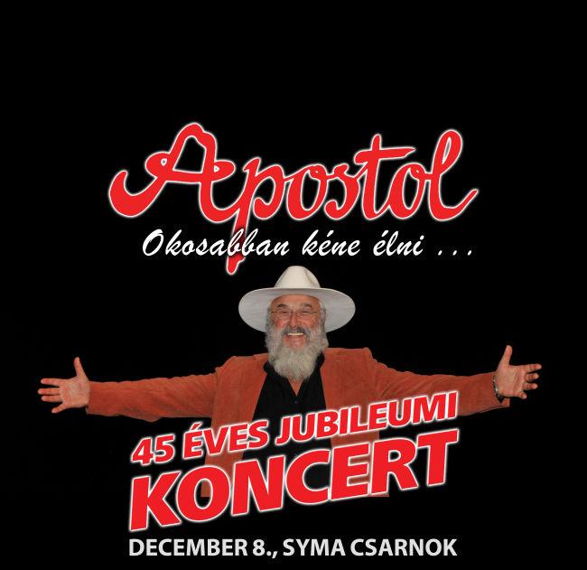 Apostol koncert 2015.12.08. Syma Csarnok - Flyer.