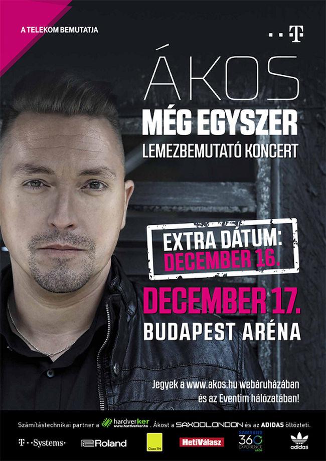 Ákos - Mégyegyszer Turné 2015 flyer / plakát.