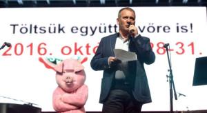 Kolbászfesztivál 2015 - Hégely Sándor, fesztiváligazgató.