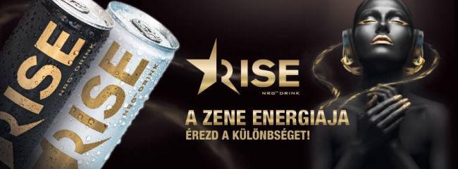 Rise NRG Drink - A zene energiája.