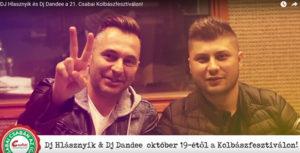 DJ Hlasznyik és Dj Dandee a 21. Csabai Kolbászfesztiválon!